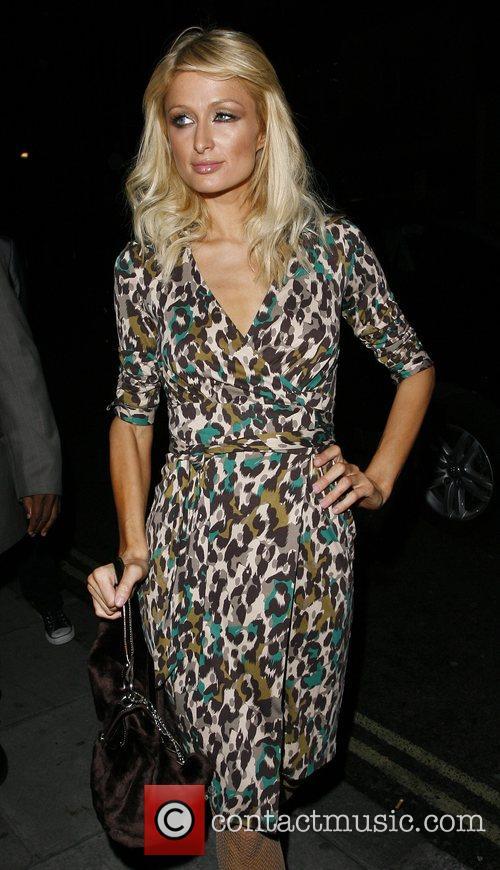 Paris Hilton arrives back at her hotel at...
