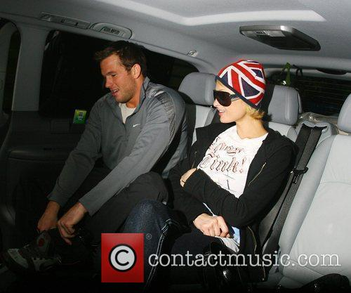 Paris Hilton and Doug Reinhardt leave their hotel...