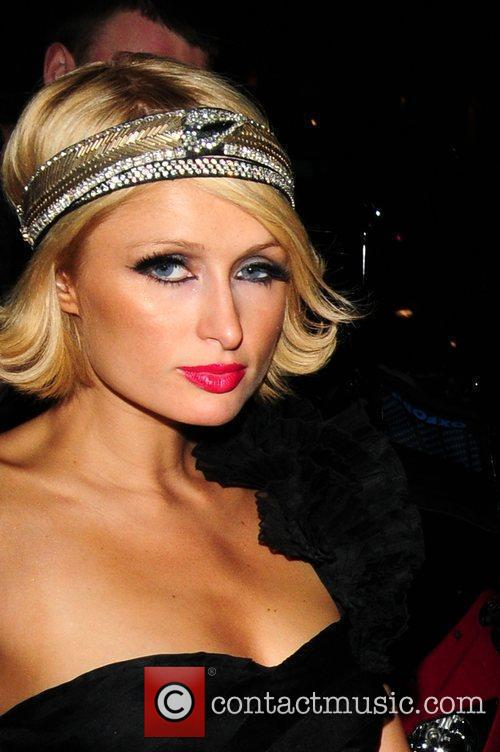 Paris Hilton arrives at Mahiki Club after diner...