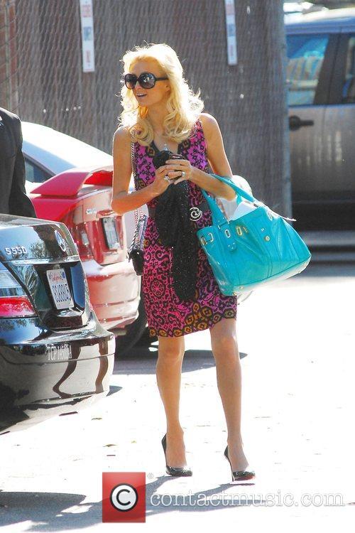 Paris Hilton arrives at Victoria Studios in Glendale