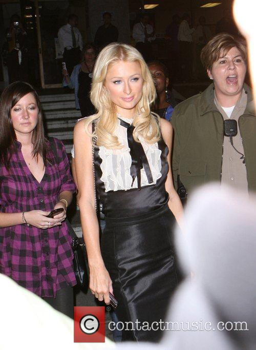 Paris Hilton outside a polling station to vote...