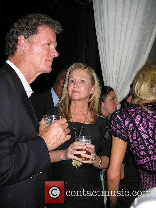 Kathy Hilton and Rick Hilton celebrate Nicky Hilton's...