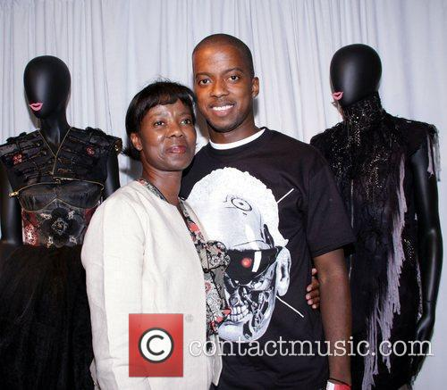 Calvin Bryant with his mother The 10th Annual...
