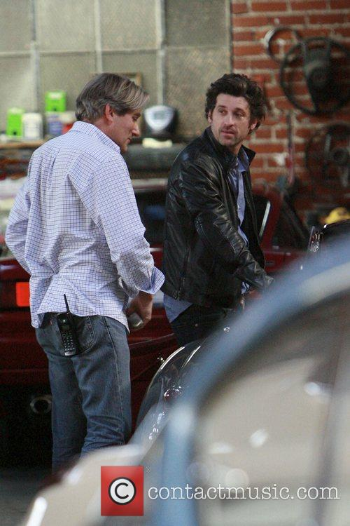 Patrick Dempsey stops by a motor shop in...