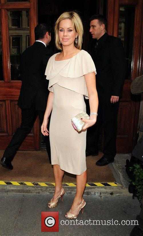 Caroline Stanbury arrives for the wedding of Patsy...