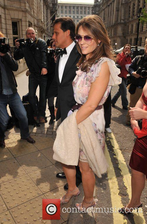 Liz Hurley and Arun Nayar arrive for the...