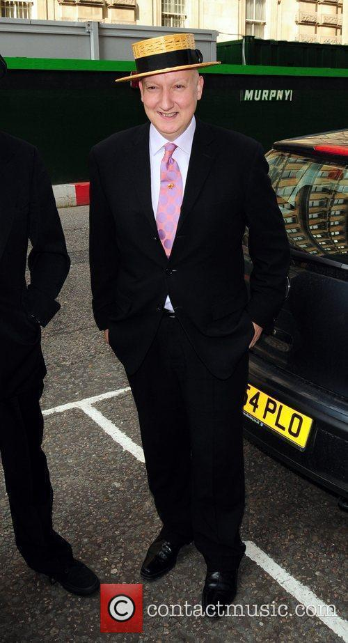 Stephen Jones arrives for the wedding of Patsy...
