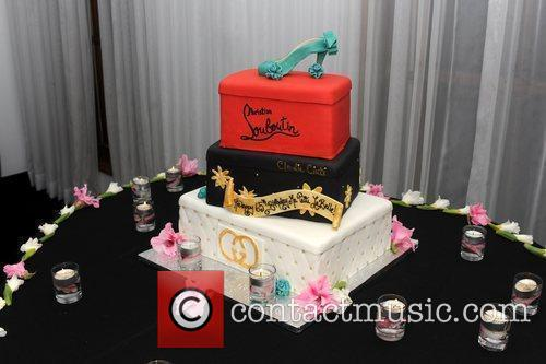 Christian Louboutin cake Patti LaBelle celebrates her 65th...