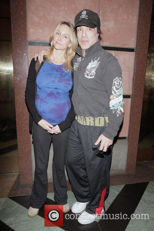 KISS singer Paul Stanley and his pregnant wife...