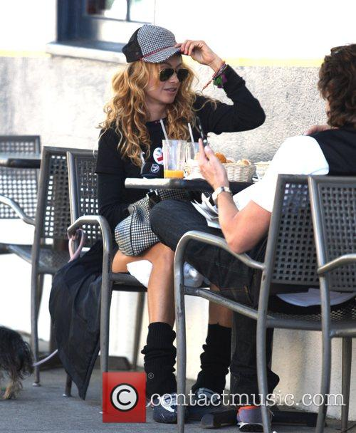 Paulina Rubio Mexican singer having lunch at La...