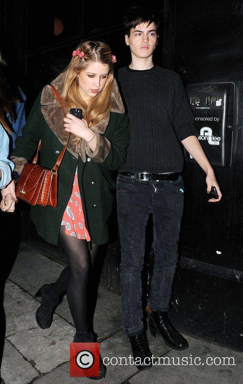 Peaches Geldof arrives at a pub in Whitechapel...