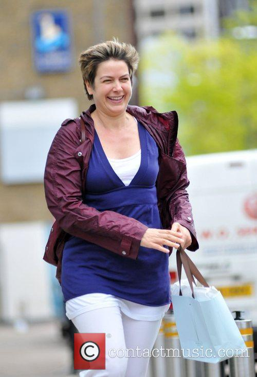 Penny Smith appears to be in high spirits...