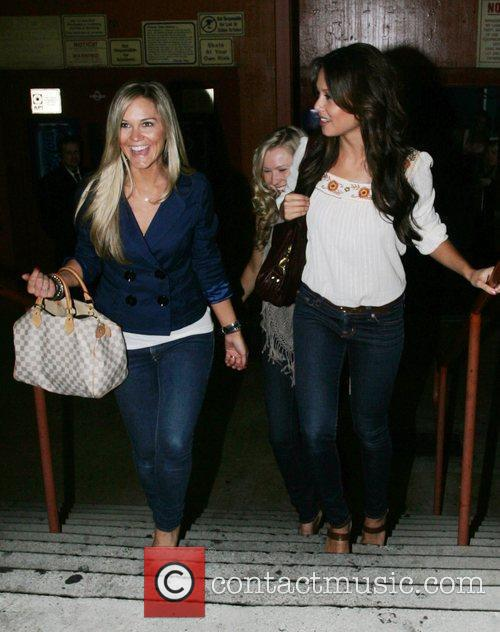 Vanessa Minnillo and friends depart a party launching...