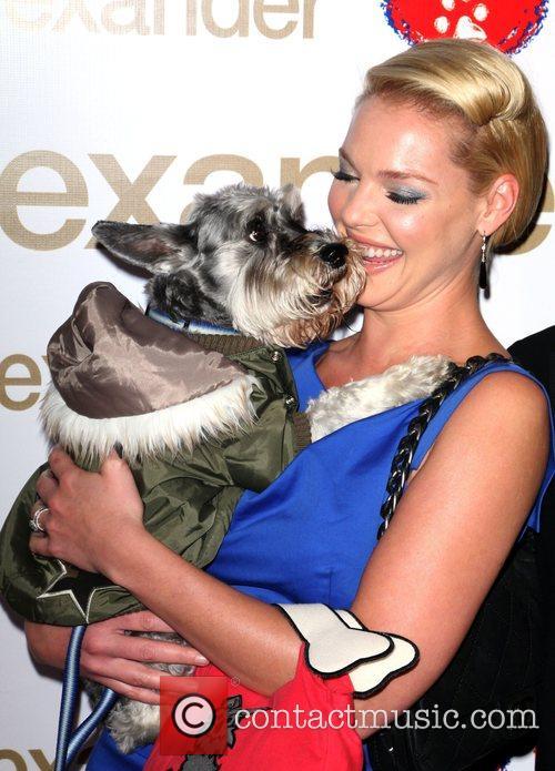Photo of Katherine Heigl & her Dog Romeo
