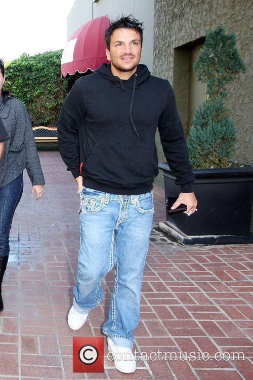 Peter Andre seen leaving Guido's Malibu Restaurant in...