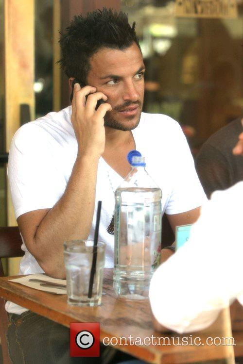 Peter Andre has lunch with his brother at...