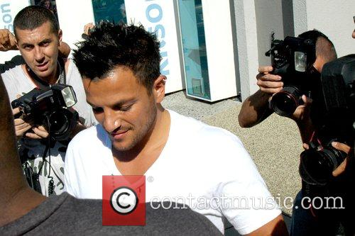 Peter Andre  leaves the Newsroom Cafe in...