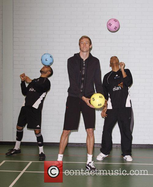 Peter Crouch attends a photocall for Elite Youth...