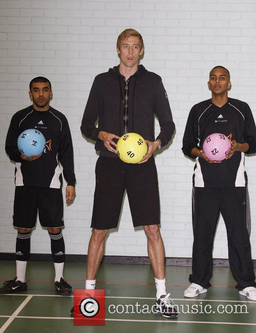 Bilal Awan, Peter Crouch and Mostaker Hussein Peter...
