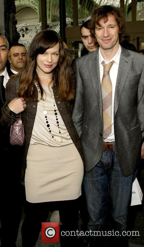 Milla Jovovich and Paul W. S. Anderson Paris...