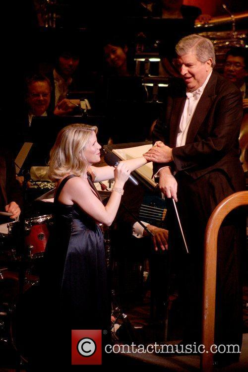 Marvin Hamlisch and Kelli O'Hara perform at the 2009 New York Philharmonic Spring Gala at Avery Fisher Hall at Lincoln Center New York City