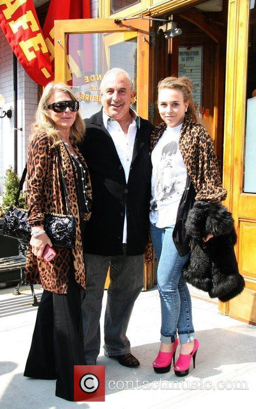 Leaving Patis restaurant after having lunch with Kate...