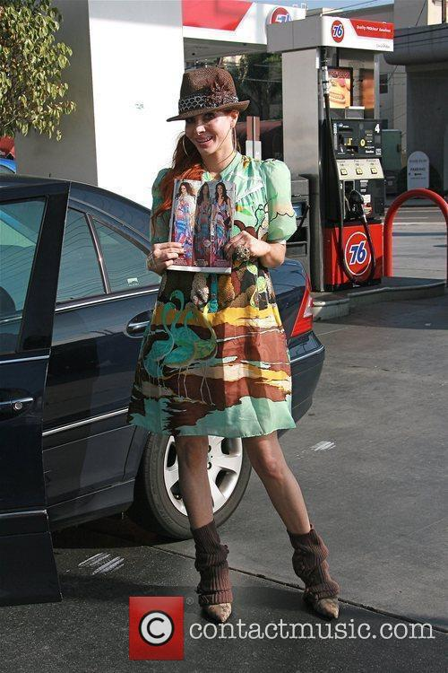 Phoebe Price at a gas station Los Angeles,...