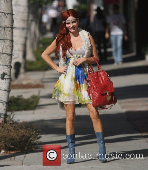 Phoebe Price shopping on Robertson Boulevard Los Angeles,...