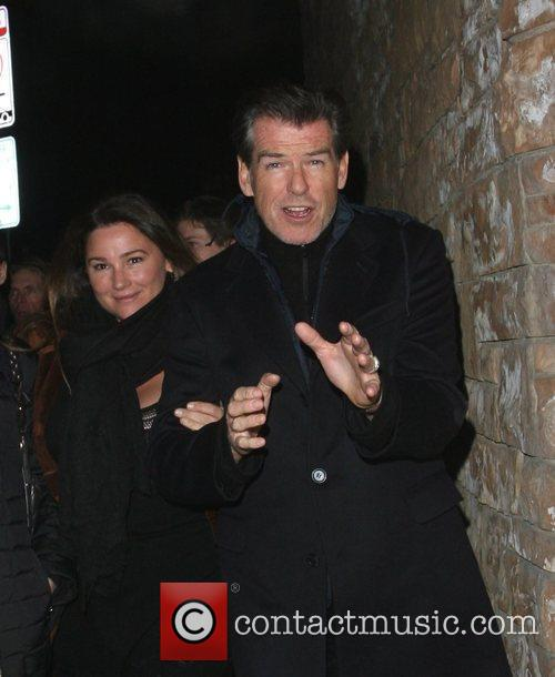 Pierce Brosnan and His Wife Shaye Keely Bronson 1