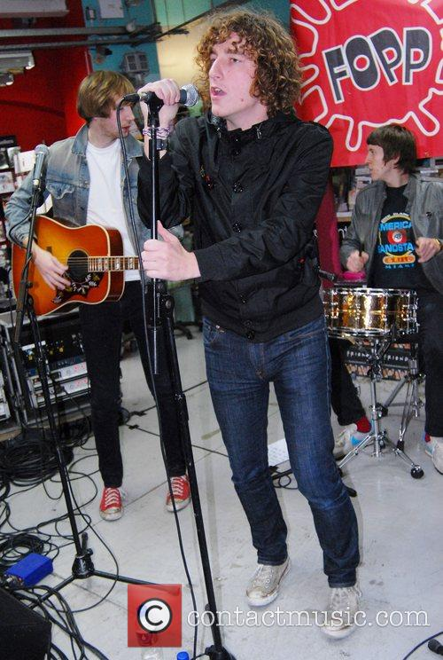 The Pigeon Detectives performing live at Fopp, Covent...