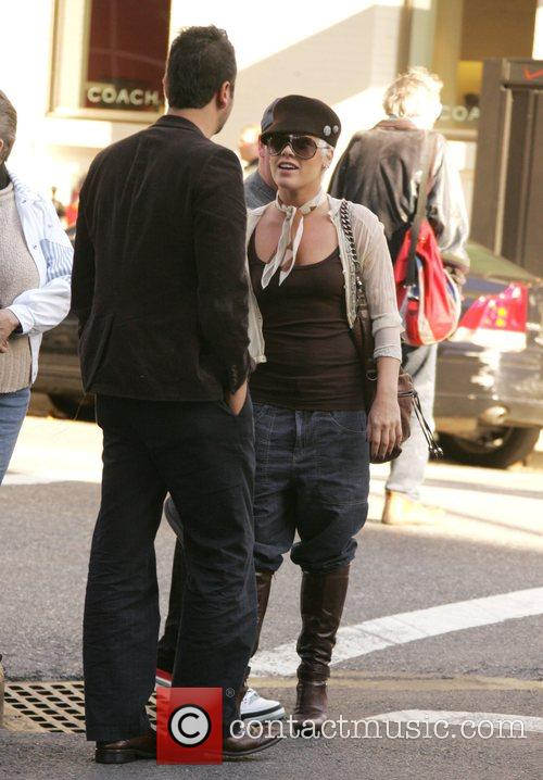Pink (Alecia Moore) out with her father and...