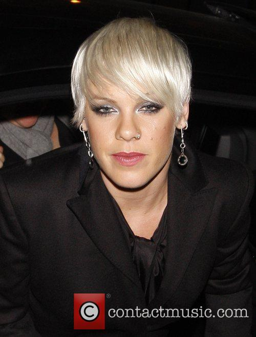 Pink aka Alecia Moore arriving back at her...