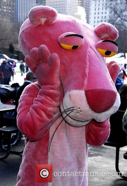 The Pink Panther promotes 'The Pink Panther 2'...