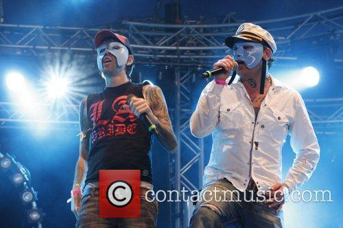 Hollywood Undead performing live at 'Pinkpop' Festival 2009...