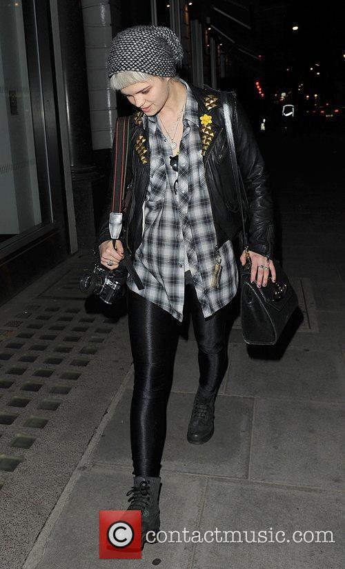 Pixie Geldof leaving the Radio1 studios, having popped...