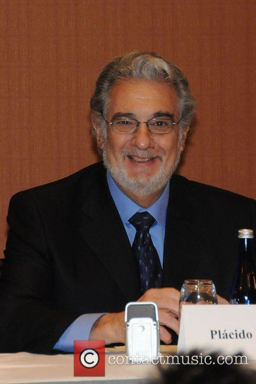 Placido Domingo holds a press conference for his...
