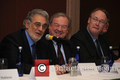 Placido Domingo and Orchestra of Philadelphia Board President...
