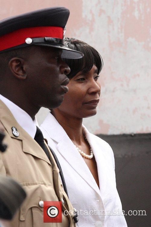 Former Bahamas senator Pleasant Bridgewater being escorted to...