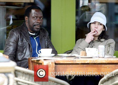Gary Beadle sits outside a cafe on the...
