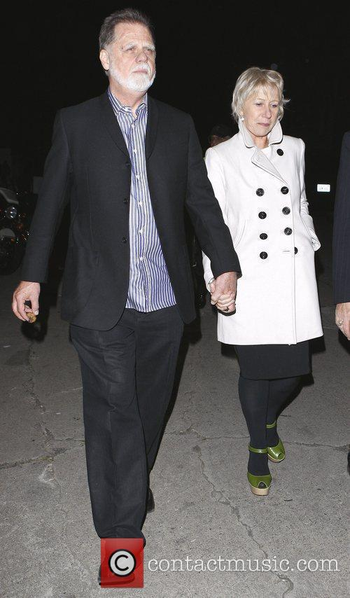 Helen Mirren and husband Taylor Hackford leave the...