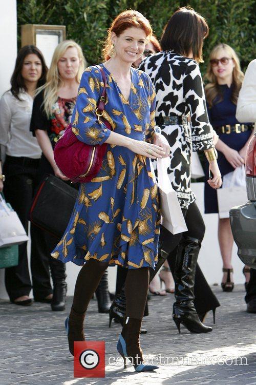 Debra Messing seen leaving a pre-Oscar party at...