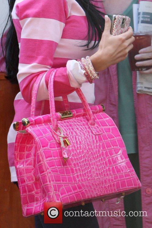 Katie Price's handbag leaving Bernie and Hillary Safire...