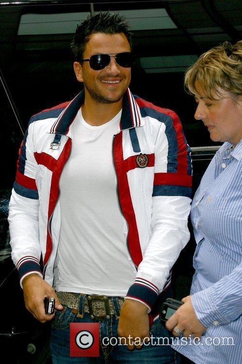 Peter Andre outside his Manhattan hotel New York...
