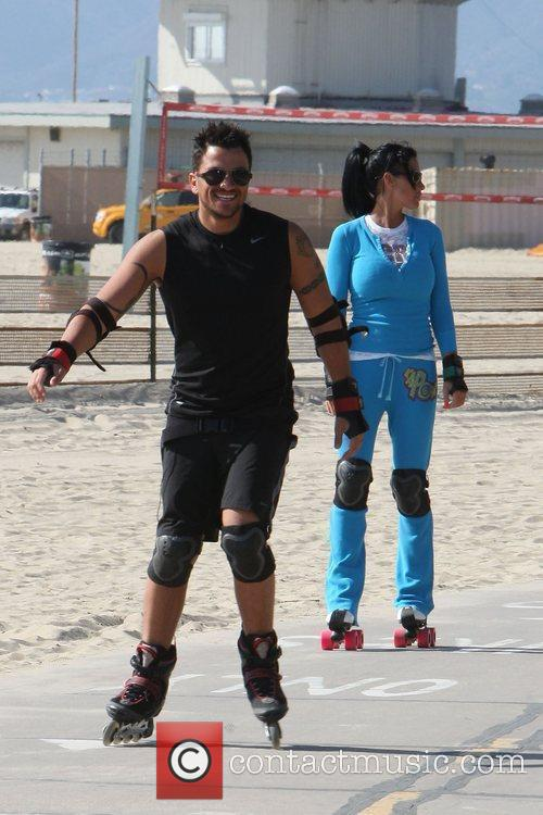 Peter Andre, Jordan, Aka Katie Price, Skating After Leaving Venice Bike and Skates 8