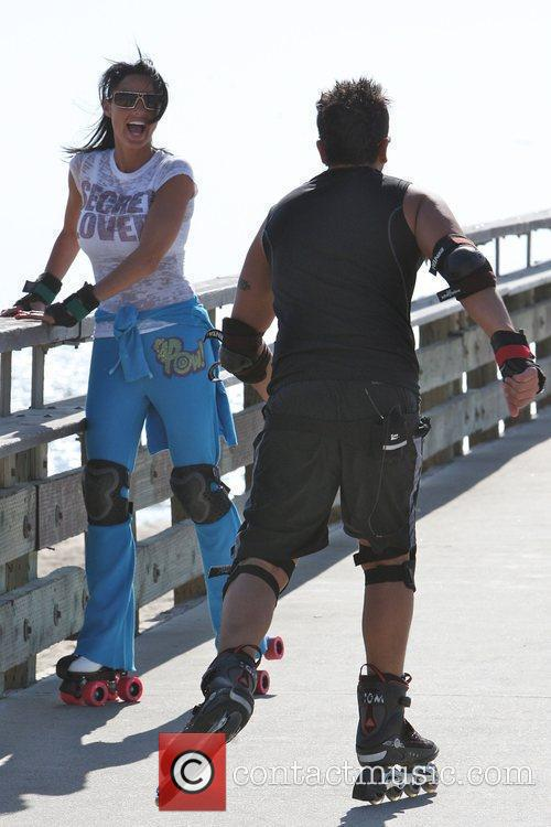 Peter Andre, Jordan, aka Katie Price, skating after leaving Venice Bike and Skates 10