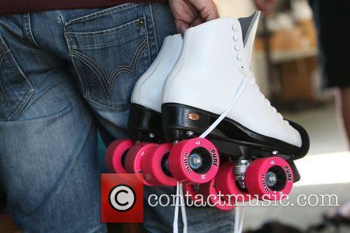 Katie Price, aka Katie Price, picks out skates at Venice Bike and Skates 2