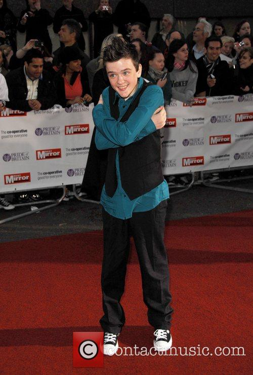 George Sampson at the 'Pride Of Britain' Awards...