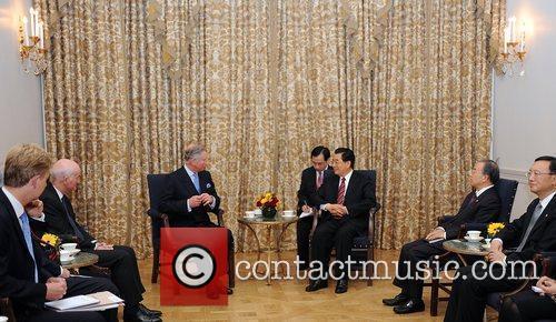 Prince Charles, Prince of Wales meets President Hu...