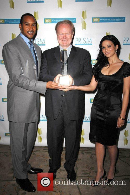 Henry Simmons, Christian Clemenson and Navi Rawat 2009...