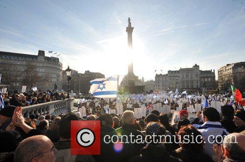 Pro-Israel rally held at Trafalgar Square